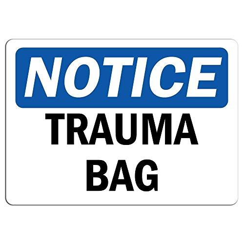 Toddrick Notice Trauma Bag Warning Hazard Zinn schicke Zeichen Vintage-Stil Retro Küche Bar Pub Coffee Shop Dekor 8