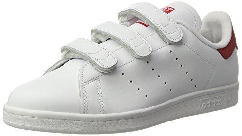 separation shoes 22312 9134d adidas Herren Stan Smith Bässe Weiß (Ftwr Whiteftwr Whitescarlet)