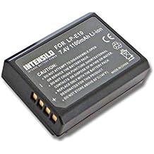 INTENSILO Li-Ion batería 1100mAh (7.4V) para cámara videocámara Video Canon EOS 1100, 1100D, 1200, 1200D por LP-E10.