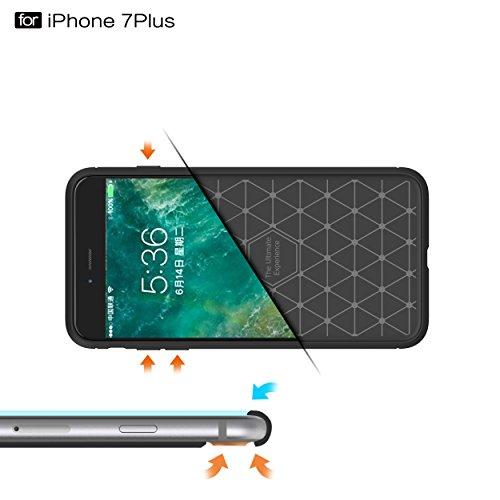 iphone 8 plus Hülle(geben Hartglas Display schutzfolie),Newxinyu [Rugged Armor] Elastisch TPU Bumper Case Kratzfeste Schlanke Handyhülle [High Pro Shield] für iphone 8 plus cover marine Grau