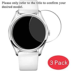VacFun Lot de 3 Protection d'écran en Verre Trempé pour IWC International Watch Company XVIII Tribute to Mark XI IW327007, 9H Film Protecteur Tempered Glass Screen Protector Montre Intelligente