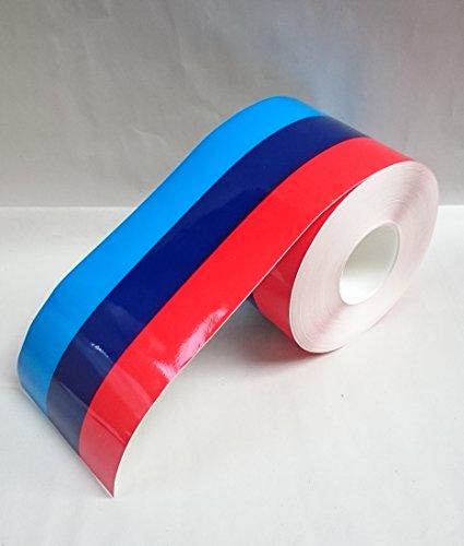 Rocwing BMW M Vinyl Sticker Stripe para Carrocería Espejo Puerta Parachoques Calcomanía 15 cm Ancho 600 cm Longitud