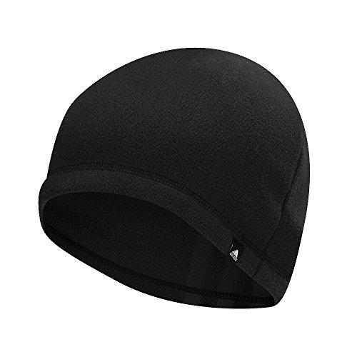 adidas Herren 3-Stripes Fleece Beanie, Black, OSFM (Beanie Black Stripe)