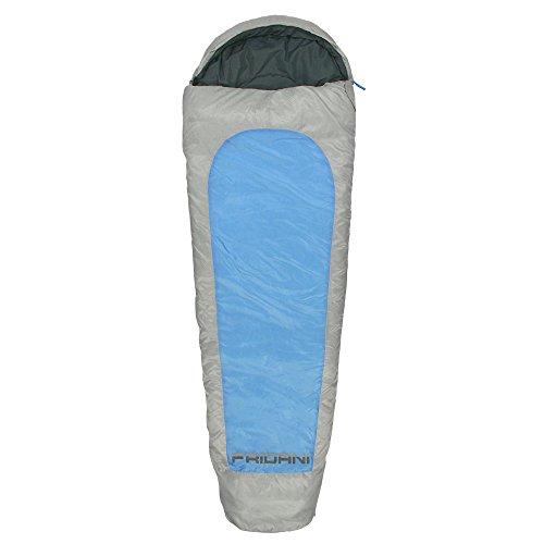 Fridani MB 225x80 cm XL Mummy Sacco a Pelo Mummy Blue -23 °C Luce Calda Idrorepellente Lavabile