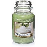 Yankee Candle candela profumata in giara grande, Vaniglia e lime, durata: fino a 150 ore