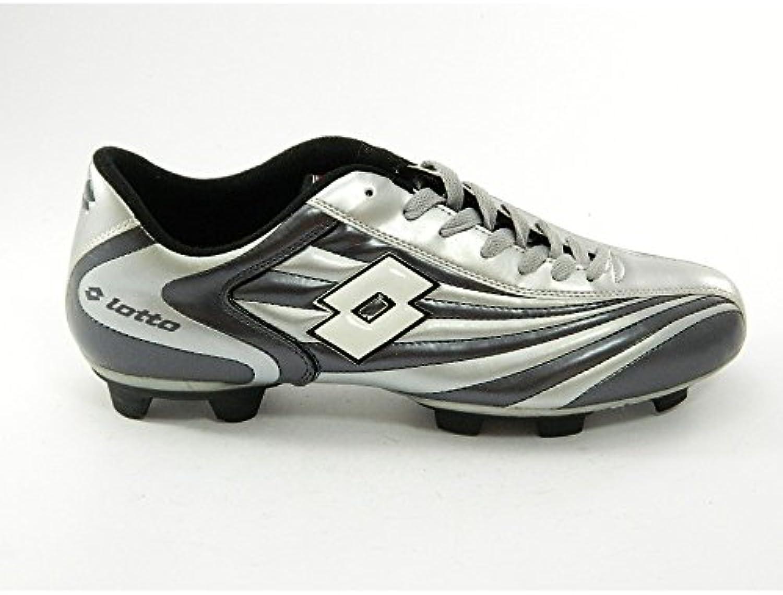 Lotto - Lotto Zapatos de Fútbol Cuero Cordones gris Vertigo III - Gris, 40