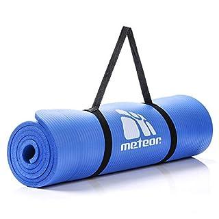 meteor® Sehr Dick Yoga Gummimatte NBR Gymnastikmatte YogaMatte 10mm füllig 183x61 cm europäische Marke Perfekt für Yoga Pilates und Gymnastik - (Blau)