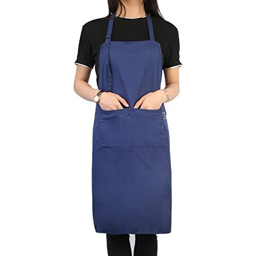 UEETEK Arbeitsschürze Arbeitsschutzblech Schürze Kochen Schürze für Küche Restaurant Café Supermarkt, Marineblau