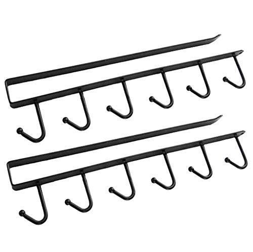 unter Regal Ablagekorb, 2 Stück Unter Schrank Lagerung Drahtkorb Organizer Fit Dual Haken für Küche Speisekammer Schreibtisch Bücherregal Schrank - weiß -