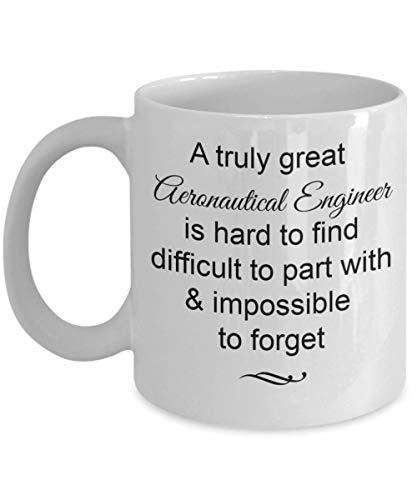 Regalos de ingeniero aeronáutico de taza de porcelana: realmente genial e imposible olvidar la taza de café, adiós, despedidas, ideas para regalos de jubilación, taza de 11 onzas