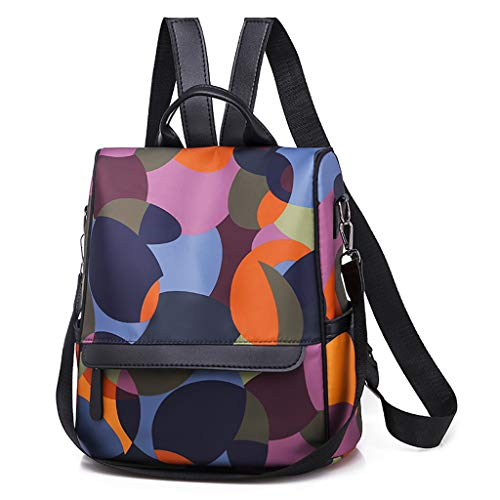 Multicolore Casual Donna i Viaggi Scolastici Moda con Chiusure Tramite Zip Borse a Zainetto Perfette per Regalo Disponibile in Una varietà di Stili (MulticoloreE)