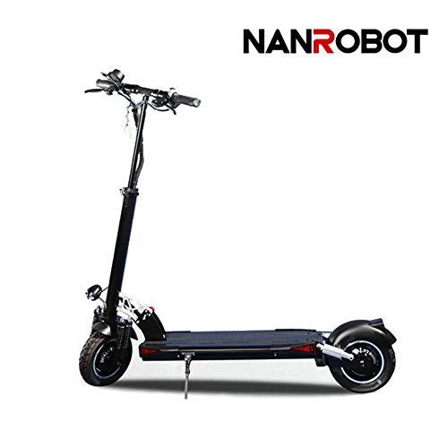 NANROBOT D5 - Patinete eléctrico para Adultos (2000 W, Velocidad Plegable, hasta 37,2 mph, con batería de Largo Alcance DE...