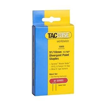 Tacwise 91/18mm Petites agrafes galvanisées Boîte de 1000
