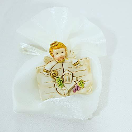Sindy bomboniere cresima sacchetti porta confetti, tessuto, argento, 10 x 2 x 12 cm, 24 unità