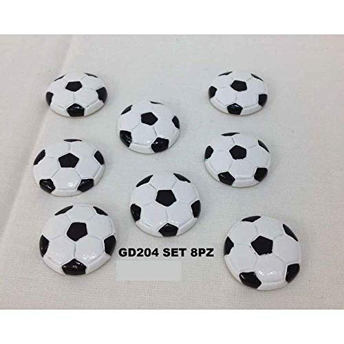 40 pezzi pallone da calcio resina 2.5 cm con adesivo bomboniera