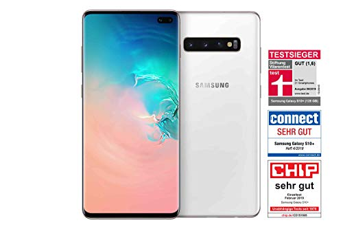 Samsung Galaxy S10+ Smartphone (16.3cm (6.4 Zoll) 512 GB interner Speicher, 8 GB RAM, Ceramic White) - [Standard] Deutsche Version Ceramic White
