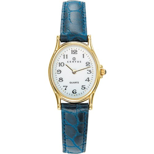 Certus 646462 Women's Watch, Analogue Quartz, White Dial, Blue Leather Strap