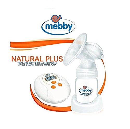 Tiralatte elettrico monolocale Mebby Natural plus con contenitore, biberon, borsa porta-accessori