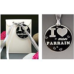 Boite de Chocolat I ♥ mon Parrain - Cadeau Baptême, Noël...