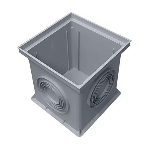 Einlaufschacht ohne Einlaufrost aus Kunststoff, 300 x 300 mm, Hofablauf, Gully, Ablauf, 532585