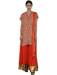 Rina Dhaka Women's Crepe Salwar Suit Set