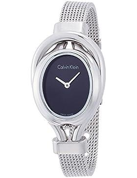 Calvin Klein Damen-Armbanduhr Analog Quarz Edelstahl K5H23121