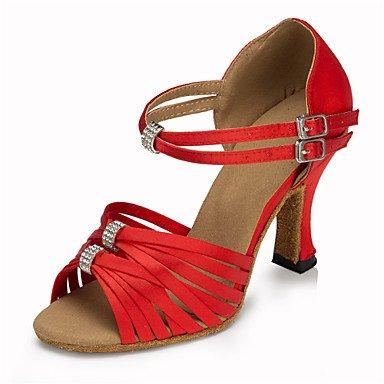 americani ballo da swing Scarpe Scarpe da Tacco Salsa Jazz donna Samba misura Pink Nero Balli Raso su Da latino xP1wP