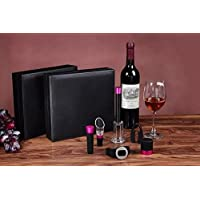 Vino strumento impostato pezzo 7, Spalato GETALL confezione regalo vino vino rossi vini regali promozionali (7 pezzi) - 4in Regalo Tubo