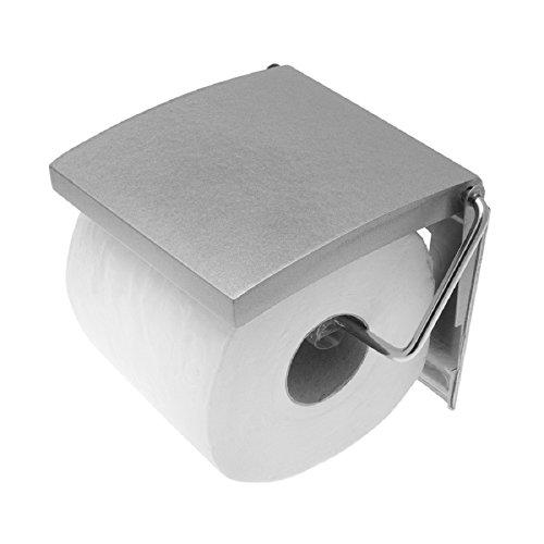 Carpemodo Toilettenpapierhalter, Farbe: Grau, Größe: 13,5x11,7x2,5cm