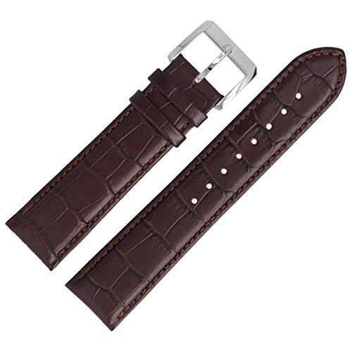 Hugo Boss Uhrenarmband 22mm Leder Braun Kroko - 659302334