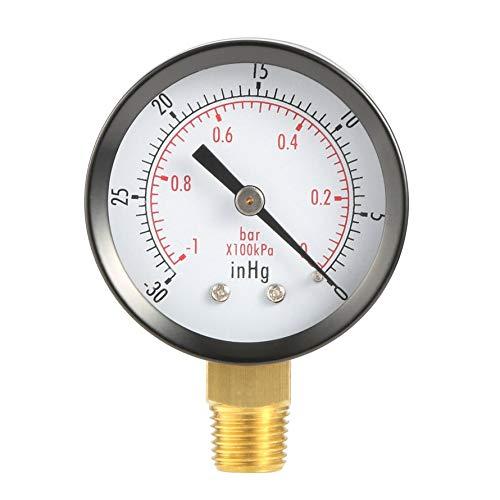 HoganeyVan Dry Utility Vakuum Manometer Schwarz Stahl 1/4