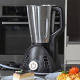Cecomix Robot Compact Que Cocina y tritura, 1100 W, 2.8 litros, Acero Inoxidable PU, Plata