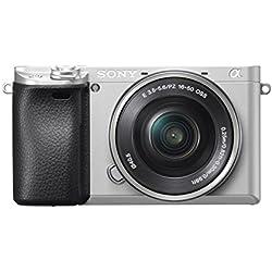 Sony Alpha 6300 E-Mount Systemkamera (24.2 Megapixel, 7,5 cm (3 Zoll) Display, XGA OLED Sucher, 4K, inklusiv 16-50 mm Objektiv) Silber Sony Alpha