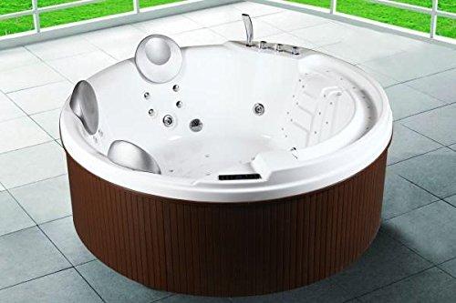 Minipiscina bañera hidromasaje 200x200x80 para exterior, capacidad 3 a 5 personas, 29...