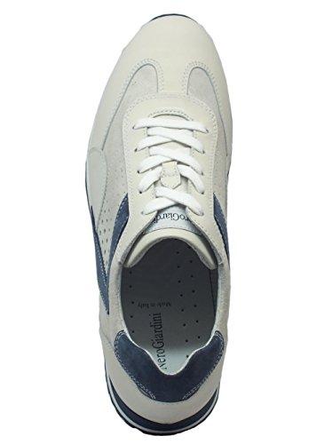 Nero Giardini P800243u Kenia Camoscio Bianco, Chaussures de Ville à Lacets Pour Homme Bianco