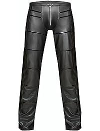 AT Herren Wetlook-Heose H021 lange Hose in schwarz von Noir Handmade Dessous