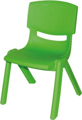 Bieco 04000002 – Kinderstuhl aus Kunststoff, stapelbar, ca. 53 x 33 x 28 cm grün