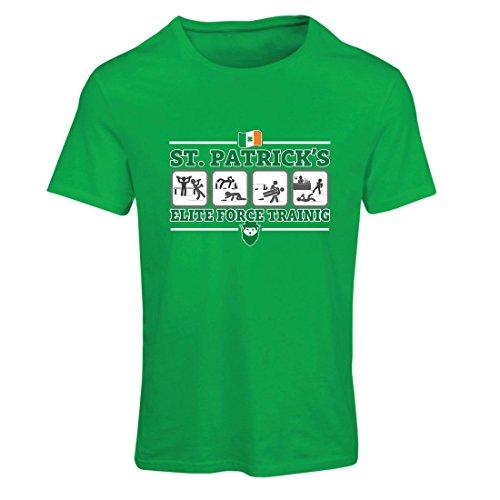 Maglietta Donna St. Patrick's Elite Force, St. Patty's day Shamrock Irlandese Verde Multicolore