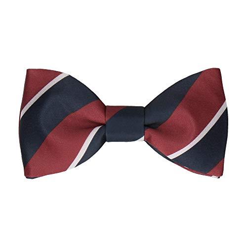 Mrs Bow Tie Henrique Stripes Fliege, Fertig gebundene - Damson Stripe Bow Tie
