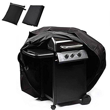 Befied Housse Barbecue Housse Bâche de Protection BBQ Anti-l'eau /Anti-UV/Anti-humidité /Anti-poussière 145cm*61cm*117cm (Noir)