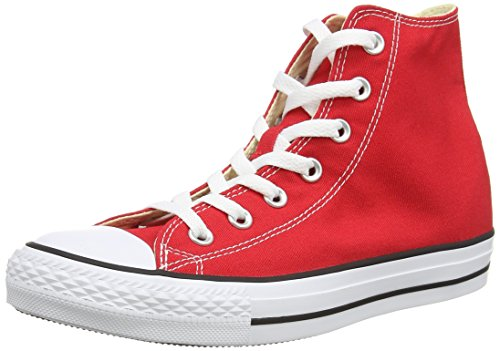 Converse All Star Hi Canvas Sneaker, Unisex Adulto, Rosso (Red), 42.5