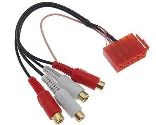 Line OUT Verstärker Adapter AUDI SKODA SEAT VW Philips Blaupunkt Stecker ISO RCA