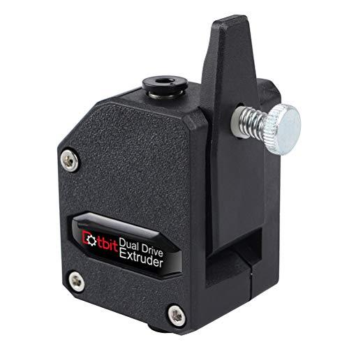 UKCOCO 1.75mm Extruder Dual Drive Bowden Extruder Impresora 3D para Impresora 3D (Negro)