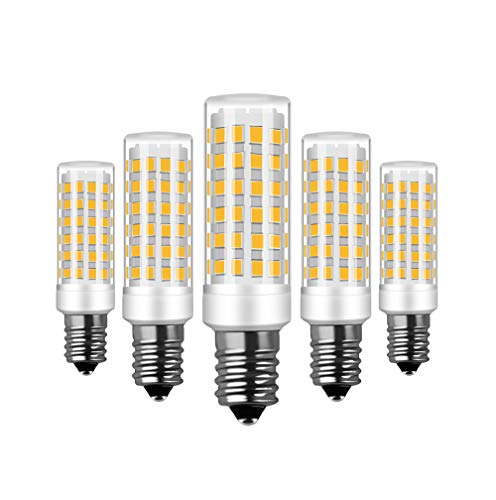 RANBOO E14 LED Lampe 9w Ersatz 75W Halogenlampen, 750LM, Warmweiß 3000K, AC 220-240V, LED Birnen für Kronleuchter, Wandlampe, Kühlschrank und Dunstabzugshaube, Nicht Dimmbar, 5er Pack