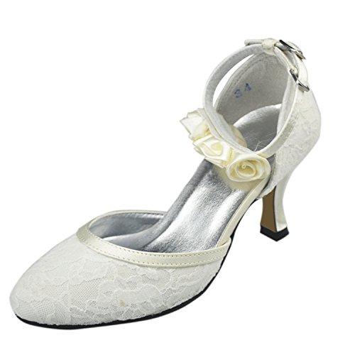 Kevin Fashion ,  Damen Modische Hochzeitsschuhe Weiß - Weiß