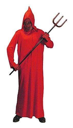 Rot Dämon Teufel Kostüm für Männer Halloween Karneval Cosplay - Größe - Halloween-kostüm Mann Schnelle