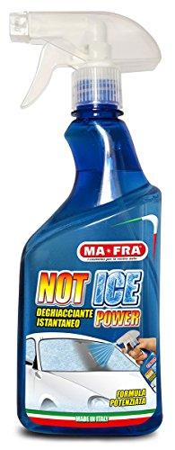 Mafra, Not Ice Power, Deghiacciante Liquido ad Effetto Immediato, Facile e Veloce da Utilizzare, Adatto per Ogni Genere di Vetro e Cristallo dell'Auto, Formato 500m