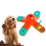 Eyefed - Puzle interactivo para perro, juguete de 4 comederos para esconder alimentos, juguete de entrenamiento para perros avanzado, alimentador lento para perros y gatos pequeños, medianos y grandes