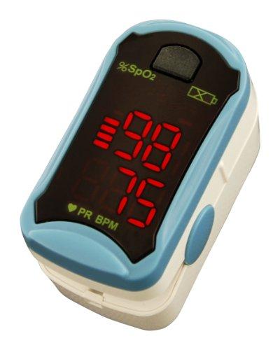 Fingerpulsoximeter Pulsoximeter MD300 C19 inkl. Zubehör (Schutztasche, Silikonschutzhülle, Batterien, Trageband)