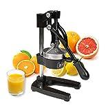 Sybo Commercial grade Citrus Juicer Hand Press manuale spremiagrumi, arancione limone lime pompelmo spremiagrumi con manico ergonomico, base in ghisa e colino in acciaio INOX